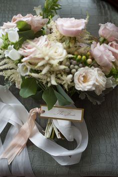 Blush Rose, Astilbe and Hypericum Bouquet