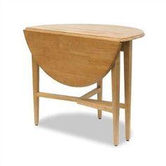 Basics Round Drop Leaf Kitchen Table -- 42