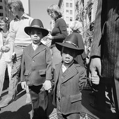 Father and sons in 3 Piece Suits at the Easter Parade, NY, NY, Easter Sunday 1977 © Meryl Meisler