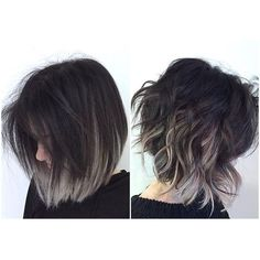 Image result for dark grey hair