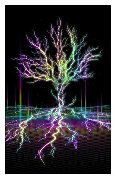 Electreecity of Life Print // Psychedelic par ArtofSamuelFarrand