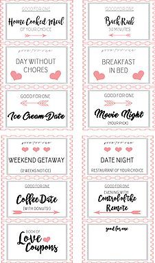 coupon book template for husband - fun love coupon book gift for her 12 funny printable