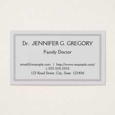 Simple Professional Family Doctor Business Card