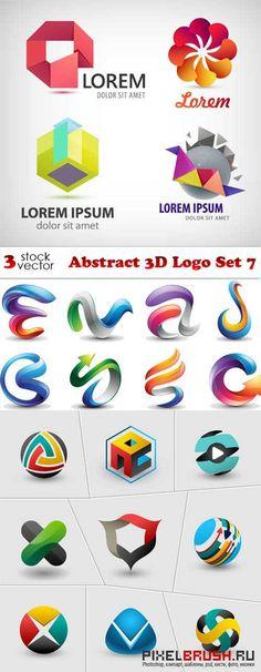 Vectors - Abstract 3D Logo Set 7