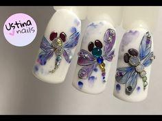 Новогодние дизайны ногтей. Вас 20 000!!! Спасибо )) - YouTube