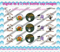 HALLOWEEN BOTTLE CAP IMAGES #bottlecap #BCI #shrinkydinkimages #bowcenters #hairbows #bowmaking please purchase via link   http://craftinheavenboutique.com/index.php?main_page=index&cPath=323_533_42_67