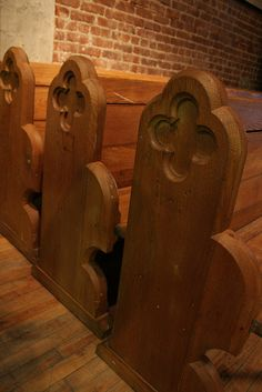 Oak Church Pews Old pews can be refurbished to look new again.  http://www.suburbanchurchsupply.com