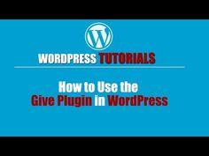 Wordpres Tutorial -Wordpress Training-How to Use the Give Plugin in WordPress - http://www.howtowordpresstrainingvideos.com/wordpress-training-videos/wordpres-tutorial-wordpress-training-how-to-use-the-give-plugin-in-wordpress/