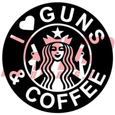 I Love Guns And Coffee Decal