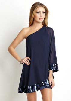 I would definitely rock this. I love one-shoulder things and the cut and material of this dress is gorgeous