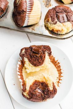 Marmor-Muffins mit Schoko-Kern {vegan}
