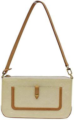 Louis Vuitton Vintage Ecru Patent leather Handbag Vintage Louis Vuitton 46685dafa9a