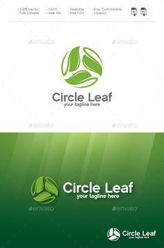 Circle Leaf - Logo Design Template Vector #logotype Download it here: http://graphicriver.net/item/circle-leaf/11560911?s_rank=778?ref=nexion