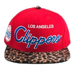 Los Angeles Clippers Cheetah Strapback Hat   Purely Dope