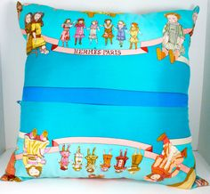 Hermes Pillow Hello Dolly handmade in Paris by WarrenExchange, $575.00
