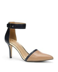 Juliette Leather Ankle Strap Heels