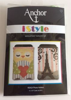 Anchor Istyle Needlepoint Tapestry Kit RDK24 Phone Holders Owl Paris Theme #Anchor