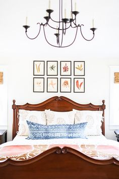 The spaces created by Wendy Word Design embody an easy elegance. Each room has a fresh foundation of bright white walls or trim and wide-planked floors enriched with simple layers of bright color, vintage textiles, and thoughtful details. Round Chandelier, Word Design, Classic Interior, Home Decor Bedroom, Bedroom Ideas, Bedroom Designs, Scandinavian Home, White Walls, Custom Homes