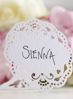 Vintage lace place cards available in packs of 10 Wedding Name Tags, Wedding Place Cards, Name Place Cards, Name Cards, Vintage Lace, South Africa, Place Card Holders, Shop, Business Cards