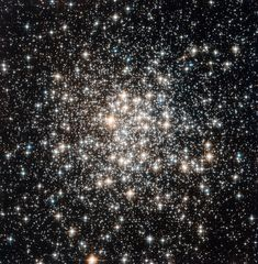 Hubble captured the crowed Messier 107 ... ancient stars in the Milky Way.  Messier 107 can be found in the constellation of Ophiuchus (The Serpent Bearer) and is located about 20 000 light-years from the Solar System.