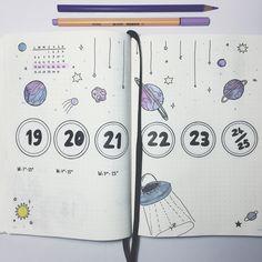 #bulletjournal #bujo #monthlylog #galaxy #purple #march