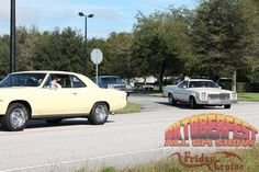 Shots of vehicles heading out on the Annual All-GM Cedar Key Cruise from NPD's main warehouse in Ocala, FL to Cedar Key (part of our All-GM Oktoberfest show at Silver Springs).