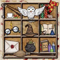 """Wizarding scrapbook pages created with the """"Wizardry"""" digital scrapbooking kit from Kate Hadfield Designs – fun ideas for Harry Potter scrapbook pages! Layout created by Creative Team member Christa"""