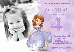 Sofia the first invitation birthday sofia the by ourlittlefunny sofia the first birthday party invitation by prettypaperpixels 899 stopboris Images