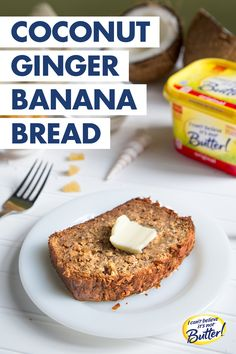 Who knew banana bread could be a one way ticket to paradise?! Summer vacation doesn't have to end when you experience a taste of the tropics with Coconut Ginger Banana Bread. Using the I Can't Believe It's Not Butter!® Best Ever Banana Bread recipe, stir in 1 cup of toasted sweetened flaked coconut and 3 Tbsp. of finely chopped crystallized ginger into the batter. Say buh-bye to your brown bananas, and hello to a moist, delicious loaf!