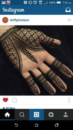 Henna - geometric palm design