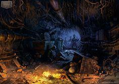 Tunnel  Location art for Metro 2033 social game. illustration |  photoshop |  metro 2033