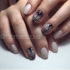 Drawings on nails, Evening nails, Ideas of gradient nails, Ombre nails with a…