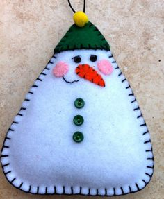 Snowman Felt Doll/Ornament
