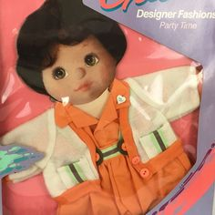 NEW 1985 My Child Designer Fashions Party Time Orange Outfit Mattel #1225 #Mattel #ClothingAccessories
