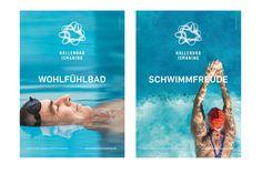 HALLENBAD ISMANING / Erscheinungsbild und Eröffnungskampagne / #Corporate #Design #Geschäftsausstattung / by Zeichen & Wunder, München