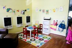 Small Playroom Ideas | ago, I wrote a post about converting the dining room into the playroom ...