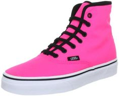 Vans Unisex Authentic Hi Sneakers Neonpink M9 W105 * Read more at the image link.