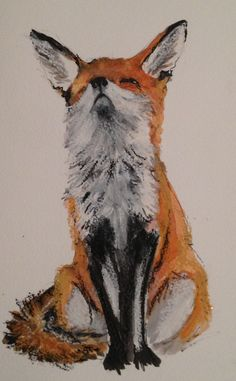 Fox drawing by Julie Miles