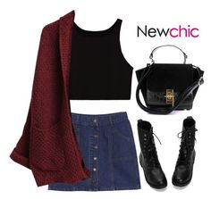 """Newchic 18"" by hungry-unicorn ❤ liked on Polyvore"