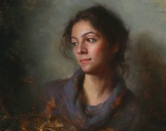 "Hsin Yao Tsung - Girl from Iran, Oil on Linen 16""x20"""