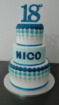 Torta 18 Anni 18th Birthday Cake For Guys Blue Cakes Party
