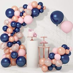 Gender Reveal Party Supplies, Baby Gender Reveal Party, Reveal Parties, Gender Party, Blue Party Decorations, Gender Reveal Party Decorations, Baby Shower Decorations, Rose Gold Balloons, Blue Balloons