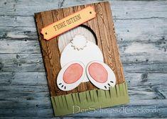 Stampin Up Ostern - Kleiner Hase kriecht durch ein Loch. So geht diese süße Karte zu basteln...