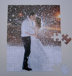 Items similar to Personalized Wedding Guest Book Puzzle or Engagement Puzzle with Large Puzzle Pieces on Etsy Diy Wedding, Dream Wedding, Wedding Book, Wedding Ideas, Trendy Wedding, Wedding Inspiration, Cruise Wedding, Wedding Details, Wedding Stuff