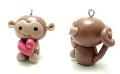 Polymer Clay Charms Ideas | Monkey & dragon polymerclay keychains