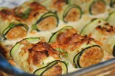 Zucchini rolls with natural tuna - Comidas - Recetas Healthy Snacks, Healthy Eating, Healthy Recipes, Veggie Recipes, Real Food Recipes, Salada Light, Comidas Fitness, Cooking For One, The Best
