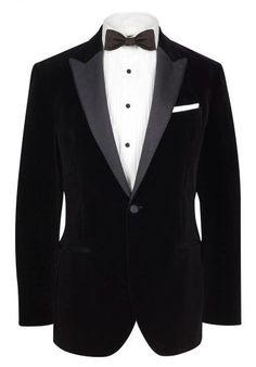 velvet dinner jacket from hackett. Black Tie Tuxedo, Classic Tuxedo, Tom Ford Mens Suits, Velvet Dinner Jacket, Groom Tux, Nehru Jackets, Tuxedo Jacket, Suit And Tie, Gentleman Style