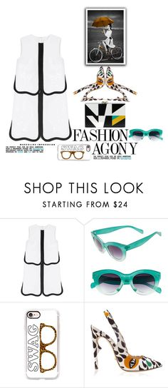 """""""Fashion Agony"""" by emcf3548 ❤ liked on Polyvore featuring Victoria, Victoria Beckham, A.J. Morgan, Casetify, Jerome C. Rousseau and Charlotte Olympia"""