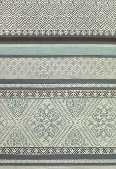 Bali Fabric Traditional Balinese inspired embroidered cotton fabric with small, eclectic design in Teal and Cream.  Suitable for Curtains an...