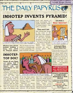 Horrible Histories Magazine # 3 : The Awesome Egyptians Mummy Mania - Horrible Histories Magazines (some are here online) - Ancient World History, World History Lessons, History For Kids, History Quotes, 6th Grade Social Studies, Teaching Social Studies, Teaching History, Ancient Egypt Lessons, Ancient Egypt For Kids